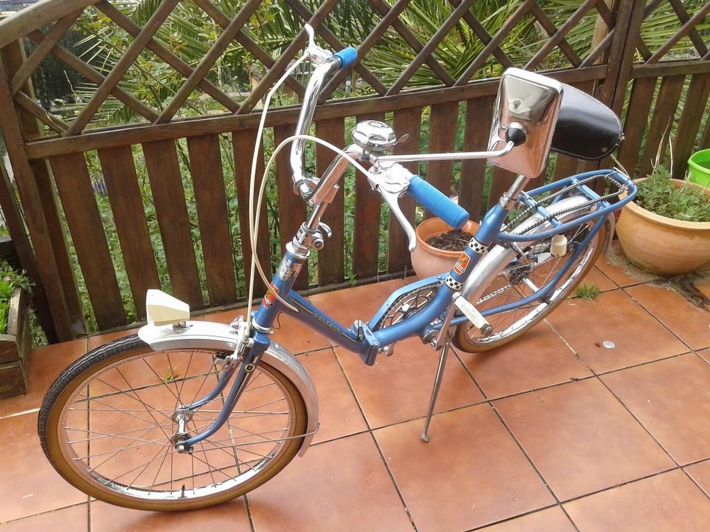 Peugeot plegable azul la bici cl sica - La bici azul ...