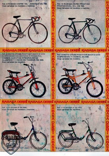 Catalogo rabasa derbi la bici cl sica for Catalogo derbi