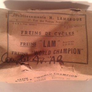 """Juego completo de sistema de frenado """"LAM"""" 1936-1940"""